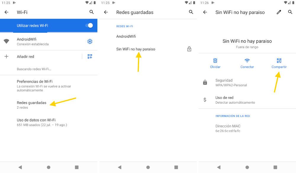 Te enseñamos a ver las contraseñas WiFi guardadas en tu smartphone
