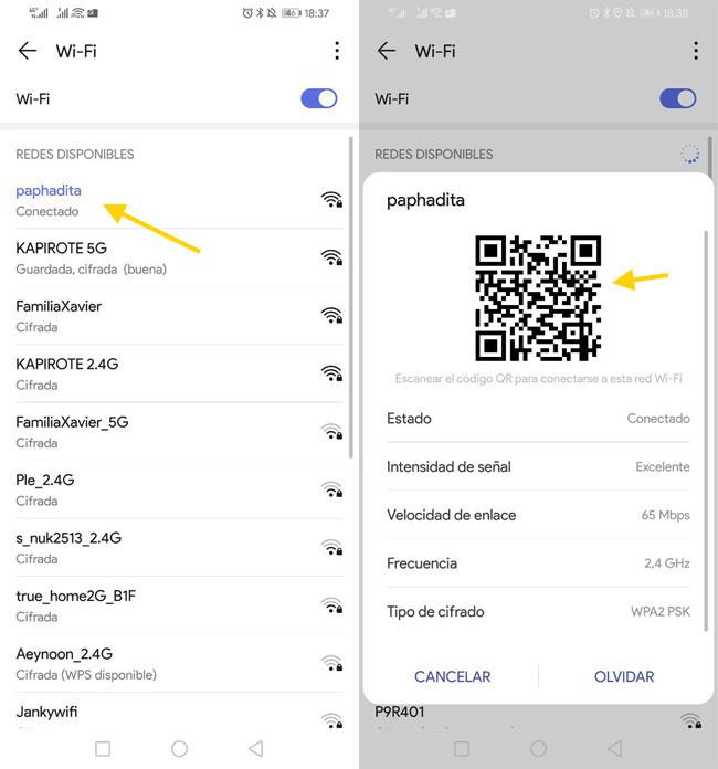 Te enseñamos a ver las contraseñas WiFi guardadas en tu smartphone 2
