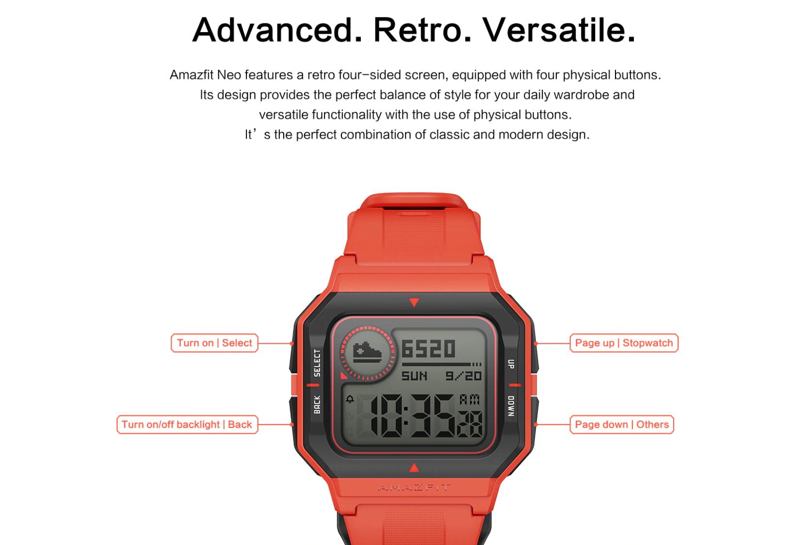 Amazfit NEO, el nuevo smartwatch 'retro' de Xiaomi 2