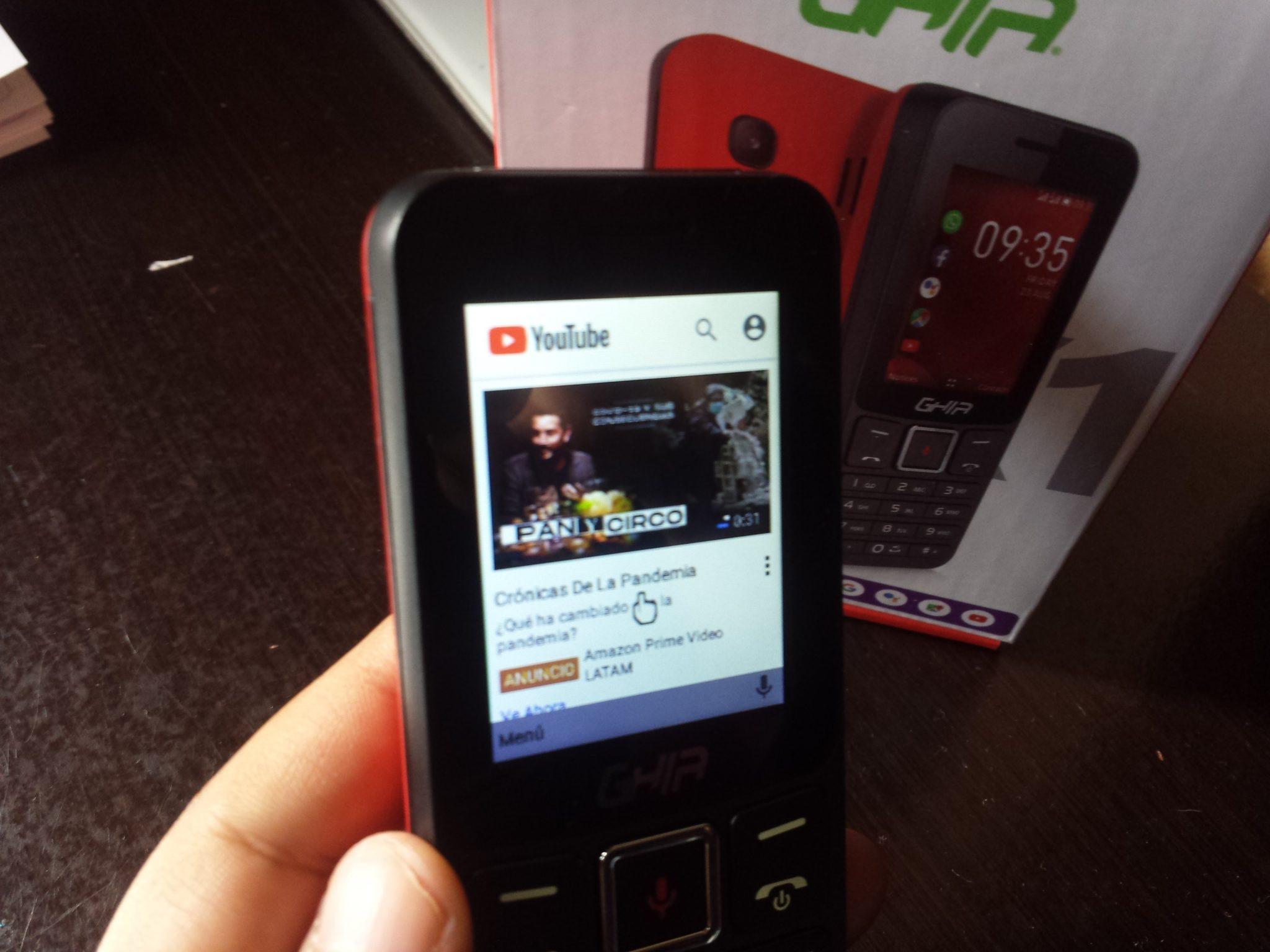 Ghia KoX1: El celular barato que tiene WhatsApp, Facebook y YouTube 2