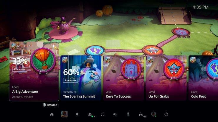 Así se ve la interfaz de la nueva PlayStation 5 de Sony