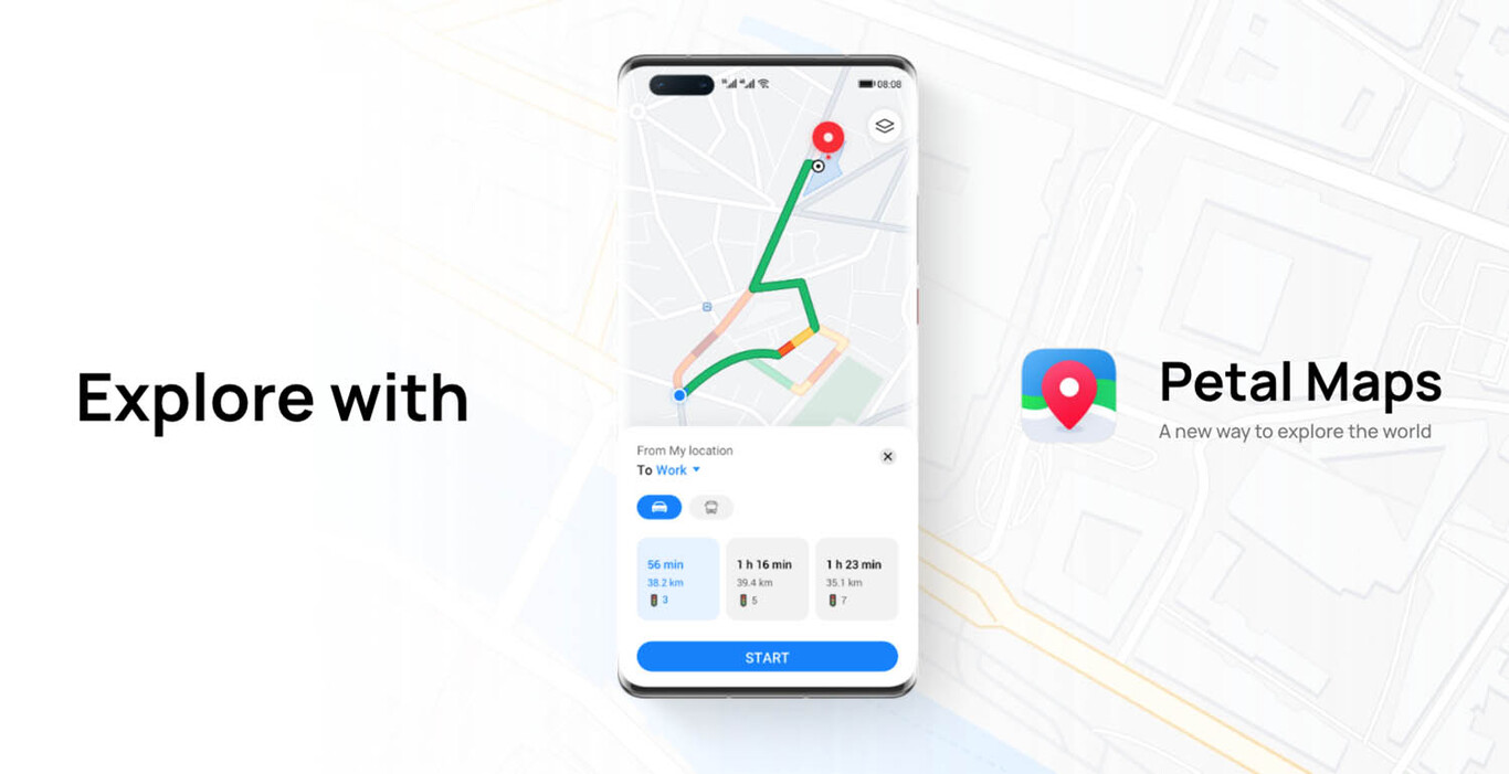 Huawei presenta Petal Maps, su alternativa a Google Maps