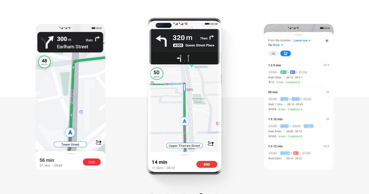 Huawei presenta su Petal Maps, su alternativa a Google Maps 2