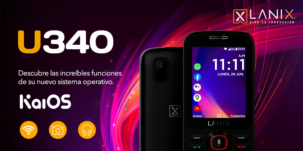 Lanix U340: Un nuevo celular barato para usar WhatsApp con KaiOS 2