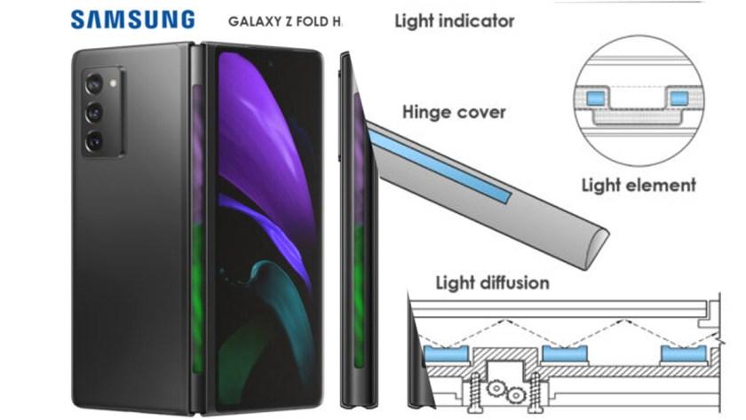Samsung patenta bisagra con LED de notificaciones para sus smartphones