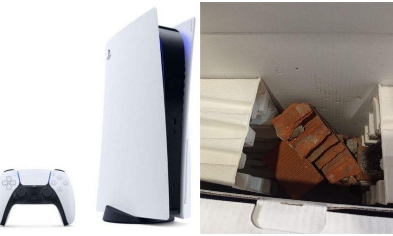 Compró una PlayStation 5 y recibió una caja con ladrillos