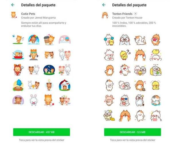 Consigue los nuevos stickers animados oficiales de WhatsApp