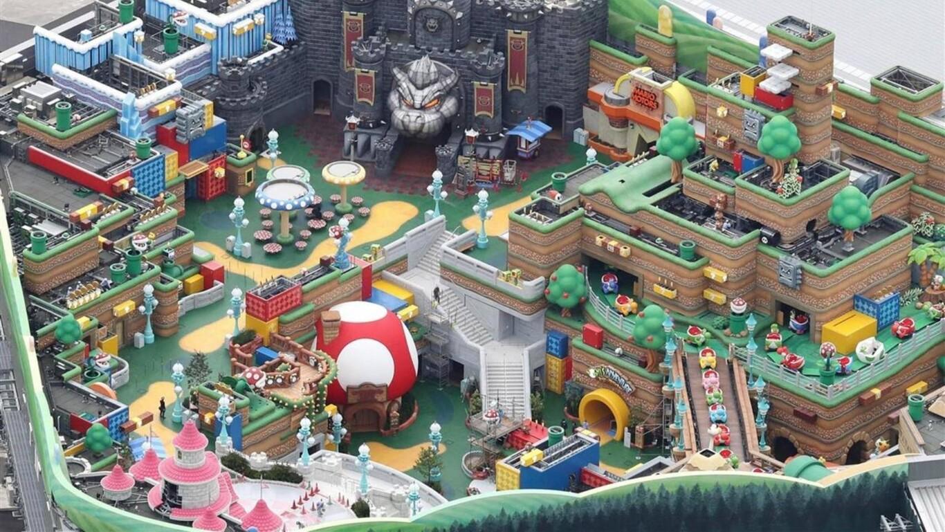 El parque de atracciones de Nintendo ya casi está terminado y así se ve