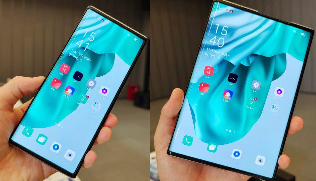 Presentan el Oppo X 2021, el primer smartphone con pantalla enrollable