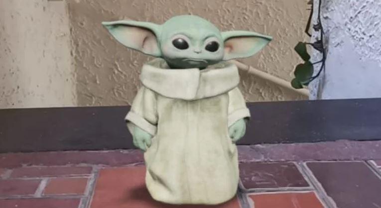 Baby Yoda llega a tu casa con la realidad aumentada de Google