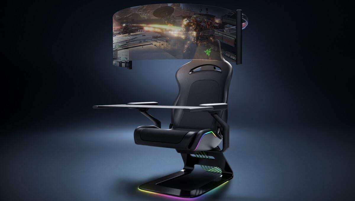 Project Brooklyn: la silla gamer de Razer con pantalla OLED de 60 pulgadas
