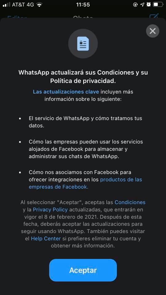 WhatsApp cambia sus términos y política de privacidad, conoce los cambios