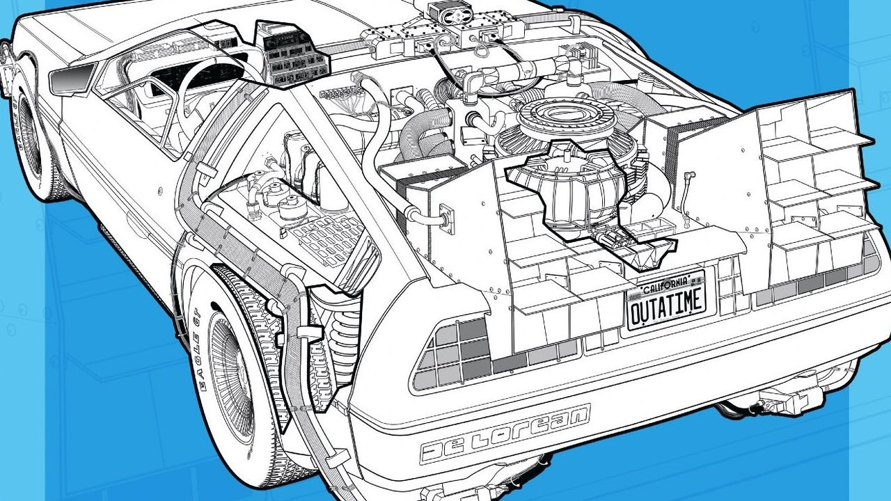 Ya puedes comprar el manual de usuario del DeLorean de Back to the Future