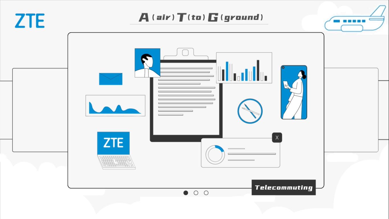 ZTE presenta su servicio 5G ATG para tener conectividad en pleno vuelo