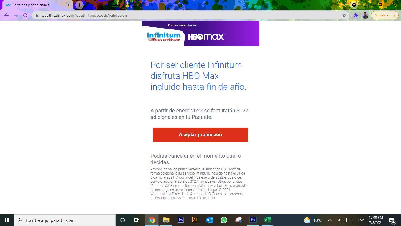 Telmex ofrece 6 meses gratis de HBO Max para clientes Infinitum 3